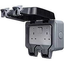 Masterplug WP22 13amp 2 Socket Weatherproof IP66 Outdoor Switched Socket