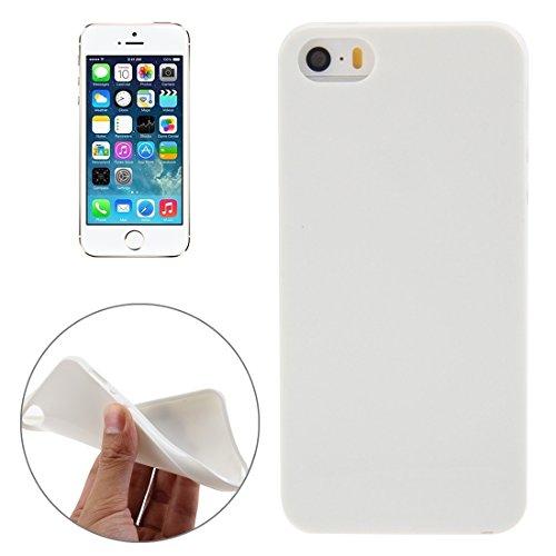 Wkae Case Cover Glatte Oberfläche TPU für iPhone 5 & 5S ( Color : Yellow ) White