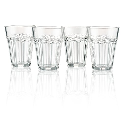 Artland Pearl Ridge Glas, transparent, 4Stück