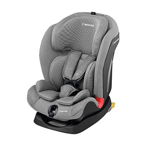 Maxi-Cosi Titan mitwachsender Kinderautositz mit ISOFIX und Schlafposition, Gruppe 1/2/3 Kindersitz (9-36 kg), nutzbar ab 9 Monate bis 12 Jahre, Nomad Grey