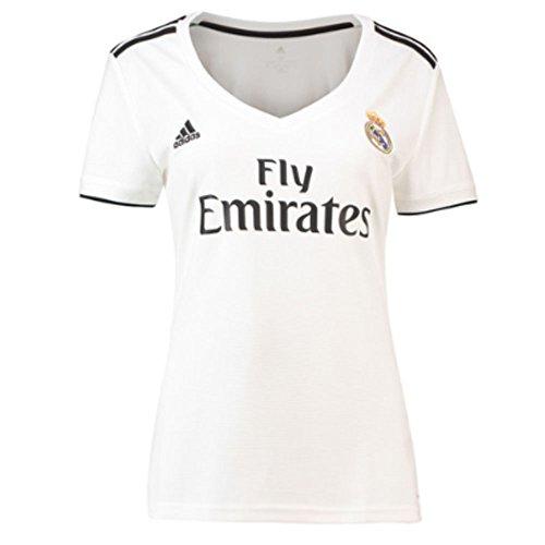 adidas Camiseta Real Madrid Primera Equipación 2018-2019 Mujer White-black