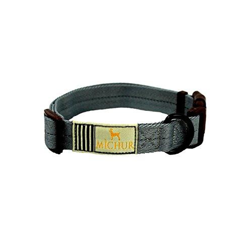 michur-wendy-grau-hundehalsbandnylon-hundehalsband-in-verschiedenen-grossen-erhaltlich