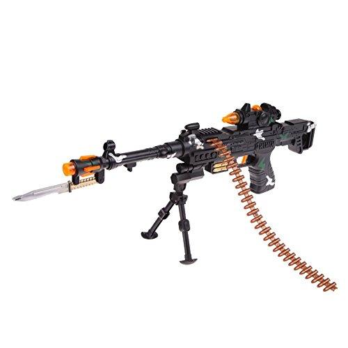 Kinder Gewehr Spielzeug - TOOGOO(R)Neues Spielzeug Kinder Armee Sturmmaschinengewehre mit Ton Blinklichter Geschenk