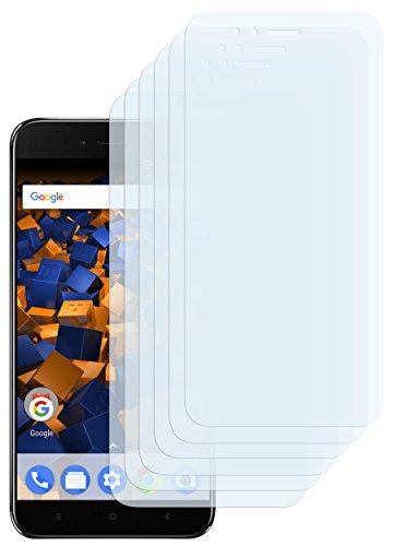 mumbi Schutzfolie kompatibel mit Xiaomi Mi A1 Folie klar, Displayschutzfolie (6x)