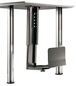 ROLINE Platzsparender PC-Halter mit stabiler Stahlkonstrunktion in schwarz