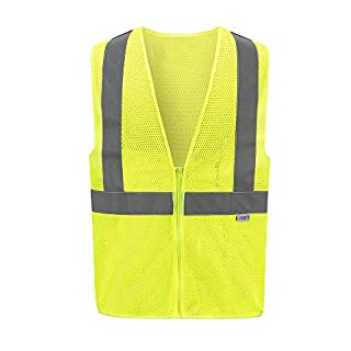 AYKRM Mesh High Visibility Reflective Vest Yellow