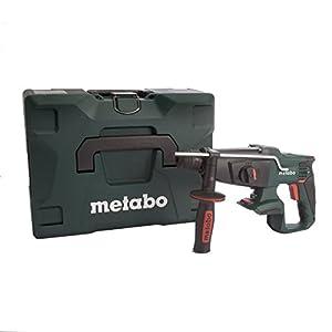 Metabo 600210840 600210840-Martillo Ligero SDS-Plus a bateria 18V Ah Li-Ion KHA 18 LTX con maletin MetaLoc, 18 V, Negro, Verde, Gris