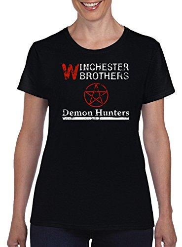 Hunter Demon Kostüm - TSP Winchester Demon Hunters Damen T-Shirt S Schwarz