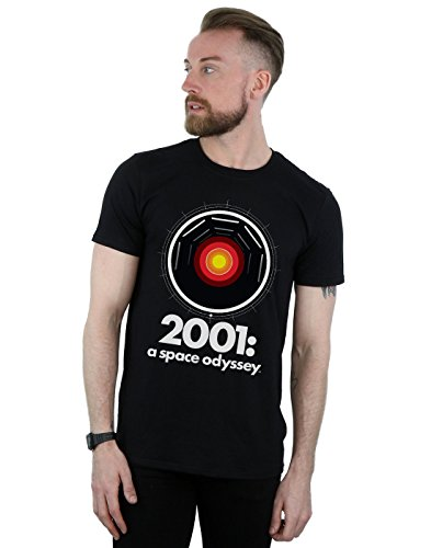 Absolute Cult 2001: A Space Odyssey Hombre HAL 9000 Camiseta Negro Medium