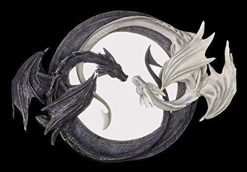 Figuren Shop Gmbh Dragones Espejo de Pared - Yin Yang Espejo -...