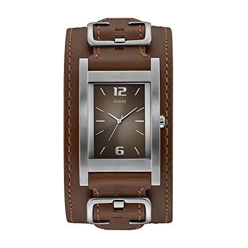 Guess Homme Uhr Analogique Quartz (Pile) mit Cuir Armband W1165G1