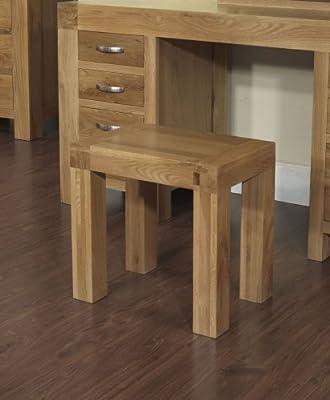 Rustic Grange Santana Blonde Oak Dressing Table Stool - cheap UK dressing table shop.