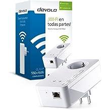 Devolo 9833 - Adaptador dLAN con WiFi (500 Mbps, puerto LAN, Range+ Technology), blanco