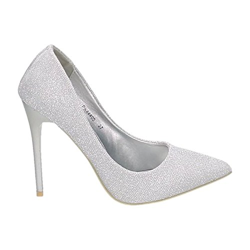 Silber Escarpins Of King Uzau8 Shoes Femme Pour wq6qWtR8