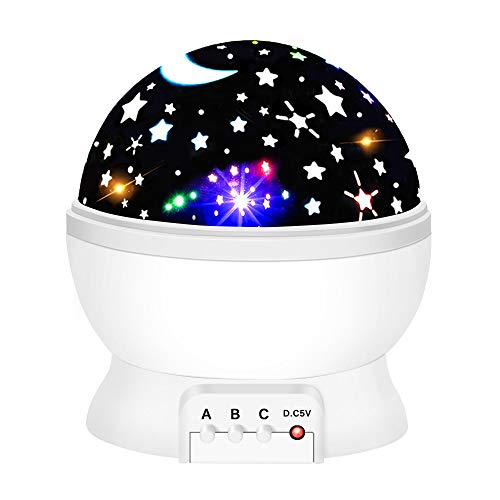 EUTOYZ Spielzeug Geschenke für Mädchen Jungen ab 2-10 Jahre, Projektor Lampe LED Grandbeing Zimmer Nachtlicht für Kinder Baby 2-10 Jahre Spielzeug für Jungen Weiß (Mädchen 10 Für Spielzeug Ab)