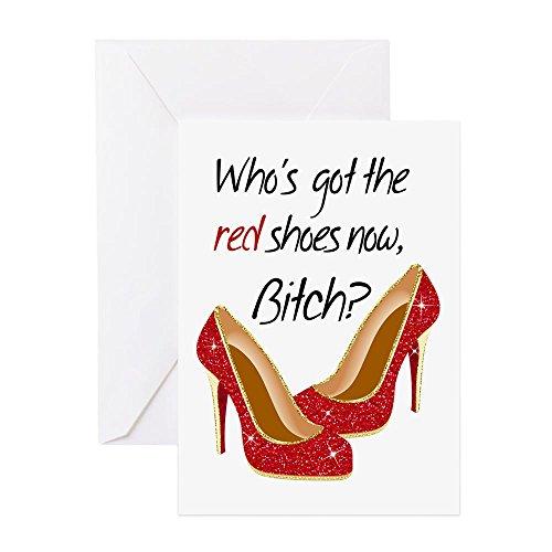 CafePress-Wizard von Oz, Die 'sgot The Red Shoes jetzt Gruß C-Grußkarte, Note Karte, Geburtstagskarte, innen blanko, matt
