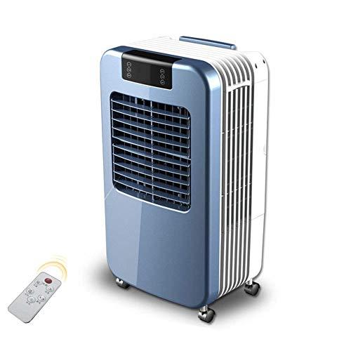 WSJTT Luftkühler, Mini tragbare Klimaanlage Lüfter Geräuschlos Verdunstungsluftbefeuchter für Zimmer Büro Desktop Nachttisch Intelligente Fernbedienung, 30l Wassertank mit großem Fassungsvermögen