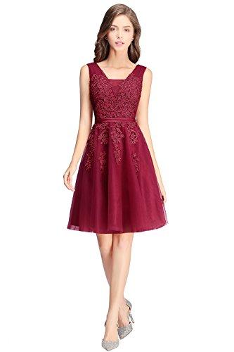 Mädchen Prinzessin V-Ausschnitt Tüll konfirmationskleid Applikation Prom dress - Prinzessin Kleider Für Teenager