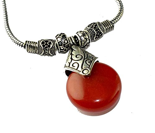 Eshopitude Onyx Gemstone Traditional Fashion Stainless Steel Necklace Chain Pendant