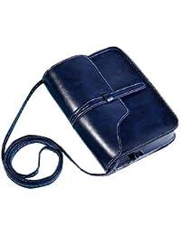 F9Q Femme de luxe en cuir PU petit sac à bandoulière Vent main Mini Messenger Bag