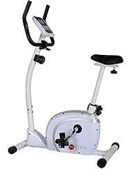 AsVIVA H18 Heimtrainer Cardio Sport Ergometer mit 10kg Schwungmasse, Riemenantrieb, 8 manuellen Widerstandsstufen und Multifunktionscomputer mit Handpulsmessung