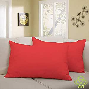 """AVI Waterproof King Size Smooth 1 Pcs. Pillow Protector- Red(20""""x 30""""inch)"""