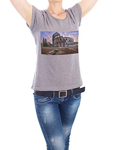 "Design T-Shirt Frauen Earth Positive ""Colosseum at sunrise, Rome, Italy"" - stylisches Shirt Städte / Rom von Domingo Leiva Nicolás Grau"