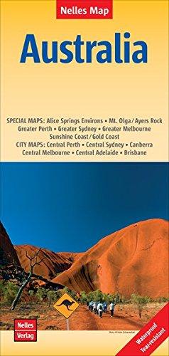 Nelles Map Landkarte Australia: 1:4500000 | reiß- und wasserfest; waterproof and tear-resistant; indéchirable et imperméable; irrompible & impermeable (Nelles Map / Strassenkarte) (Map-tasmanien)