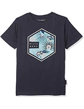 Billabong Six SS tee T-Shirt, Niños, Azul (Navy 21), Talla del Fabricante: 16