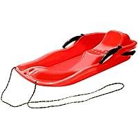 HIPENGYANBAIHU Deportes al Aire Libre Tablas de esquí de plástico Trineo LUGE Snow Grass Sand Board Pad de esquí Snowboard con Cuerda para Personas Dobles (Color: Rojo)