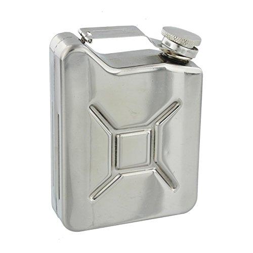 Harvey Makin Oxid7Style 170,1gram Flasque dans une finition en acier inoxydable poli miroir-Un cadeau idéal pour l'amateur de conduite automobile (Hm1153)