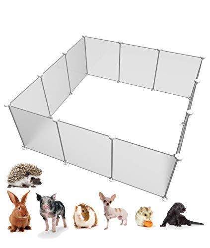 EUR POINT Plastiklaufgitter-Zaun für den Kleinen Tier-Käfig tragbar für...