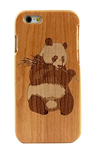 SunSmart iPhone 6 Case 4.7'' Manuel Bois Protective Hard Back Case Cover pour Apple iPhone 6(Seawave cerise) panda cerise