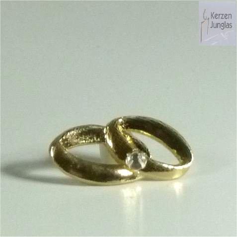 Kerzen Verzierung Ringe / Eheringe mit Stein gold 9626 (Ring Kerze)