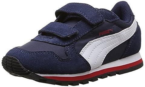 Puma St Runner Nl, Sneakers Basses garçon, Bleu (Peacoat/White/High Risk Red), 20 EU