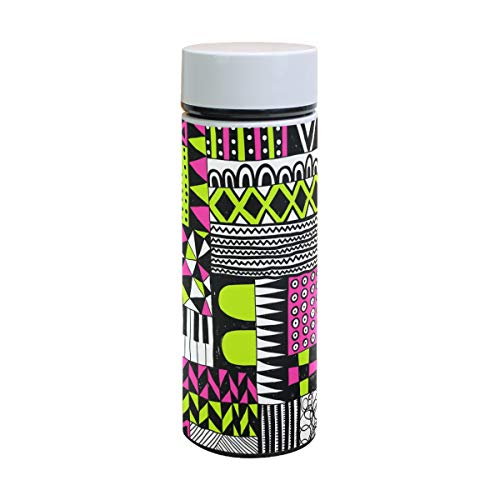 Jeansame Isolierflasche mit abstraktem Karo, geometrisch, isoliert, Thermoskanne, Wasserflasche, Becher, Edelstahl, 350 ml (Männer Karo-flasche Für)