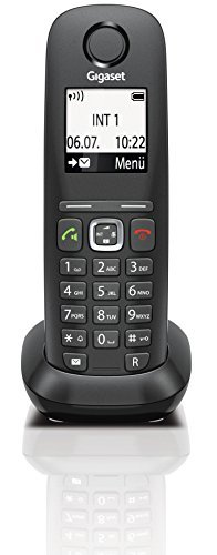 Gigaset A540 CAT Telefon, Schnurlostelefon / Mobilteil, Grafikdisplay, Dect-Telefon, Router, CAT-iq, Freisprechen, VoiP Telefon, schwarz