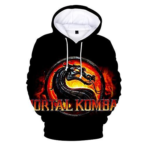 -Pullover Mortal Kombat 11 Kapuzenjacke einfach lässig Herren- und Damenmodelle 3D-Digitaldruck Freizeit Unisex ()