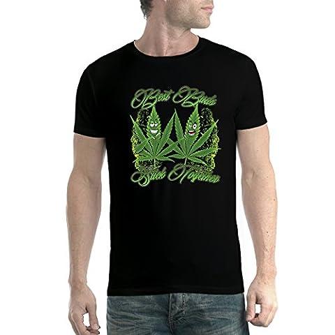 Marijuana Fumer de la Weed Meilleurs Potes Homme T-shirt Noir 4XL