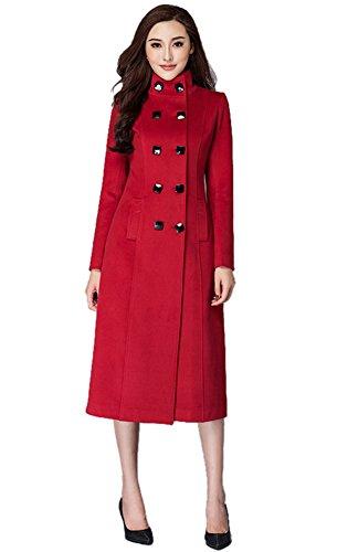 Insun Damen Trenchcoat Mantel Gr. 40, rot (Trenchcoat Junior)