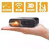 Proiettore Portatile WiFi - Artlii Mana Videoproiettore Portatile DLP Supporta Film 3D, Batteria Ricaricabile 5200mAh, Compatible con iPhone e Smartphone Android