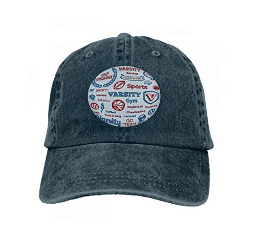 Boy School Männer Kostüm - Hip Hop Baseball Cap Hat for Boys Girls School Sports Hand Drawn Elements Character