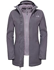 The North Face W Morton Triclimate Jacket - Chaqueta para mujer, color gris, talla S