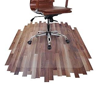 Airocell Petex PET Bodenschutzmatte, 120 cm x 100 cm mit abgerundeten Ecken, rutschfest, transparent für Hartböden, Laminat-Parkett-Venyl-Fliesen. Transparent