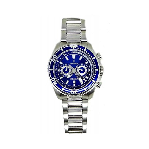 Herren Uhr Festina F16564/3Quarz (Batterie) Stahl Quandrante blau Armband Stahl