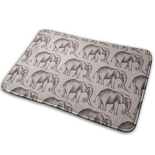 row Badteppiche, Elefant Rutschfeste Premium Shaggy Teppiche für Wohnzimmer BedroomK Büro, schnell trockene Eingangswolldecke 40X60CM ()