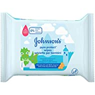 Johnson's Baby Pure Protect Wipes, 25 Wipes