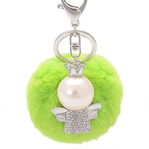 Ularma Angel Rex Pelz Ball Schlüsselanhänger Weich Plüsch Bunt Handtaschenanhänger Taschenanhänger