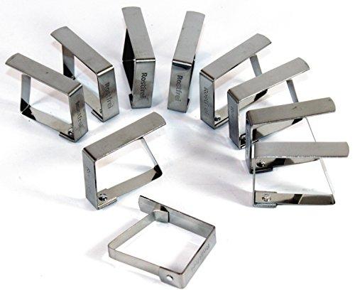 K&B Vertrieb Tischtuchklammer Edelstahl 12 Stück Tischdeckenklammer Tischdeckenhalterung Tischklammer Tischtuchklammern 470