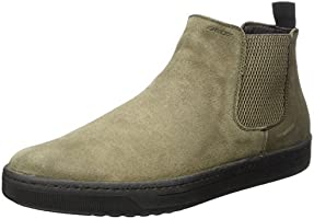 Geox Men's Uomo Ricky C Chelsea Boots, Brown (Taupe), 9 UK